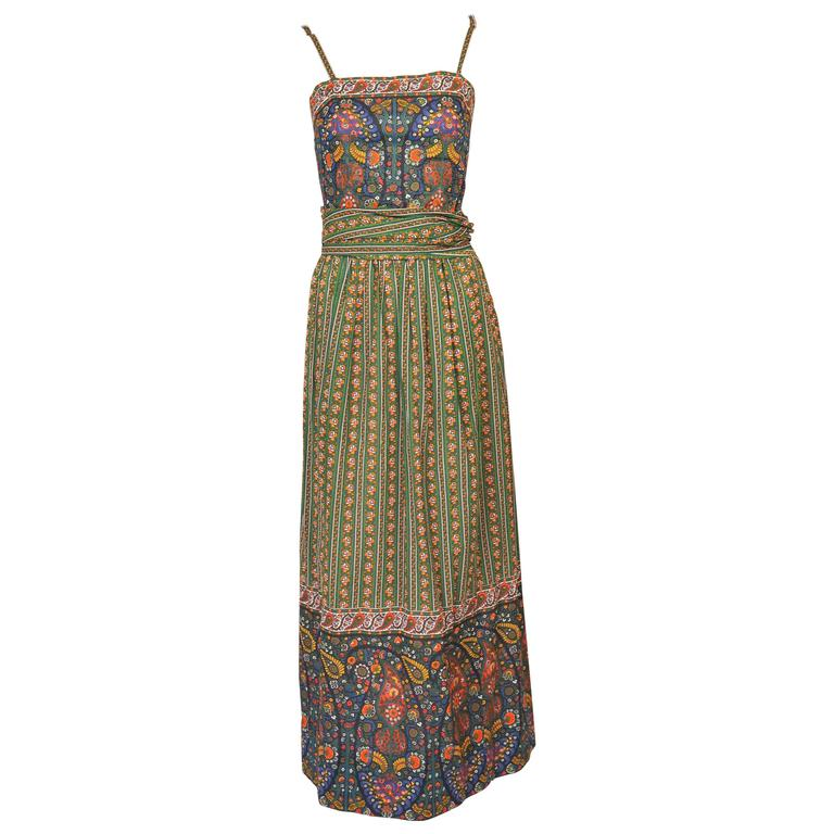 Tina Leser Dress and Shawl French Provincial Cotton Print