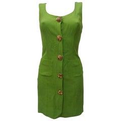 Moschino Green gold tone hardware Dress