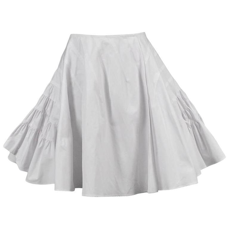 Alaia White Tier Skirt