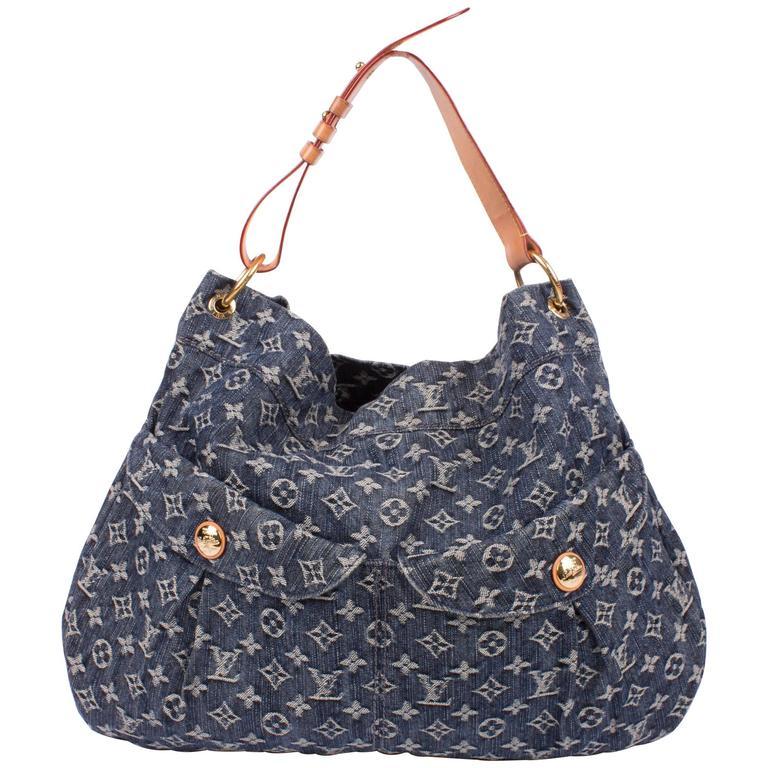 Louis Vuitton Denim Bag >> Louis Vuitton Denim Daily Gm Bag Blue At 1stdibs