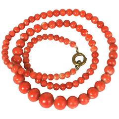 Antique Coral Beads