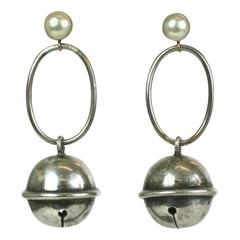 Cultured Pearl Bell Earrings, SdesR