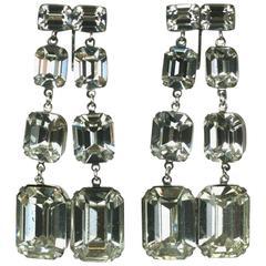 Glamorous Rhinestone Drop Earrings, Vogue