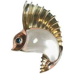 Trifari Jelly Belly Sailfish Clip Brooch, Norman Bel Geddes