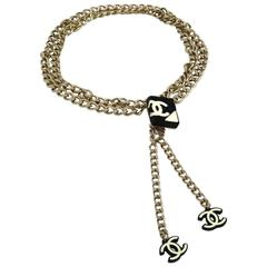 Chanel CURRENT LIKE NEW Gold Multi Link Charm Waist Belt in Box