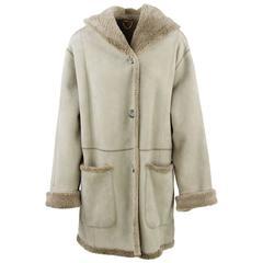 1980s Cristiano di Thiene Beige Sheepskin Coat