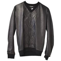 Raf Simons 'Faux Sweater' Leather Top