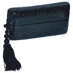 Raphael Sanchez Black Lacquer Box Clutch Bag