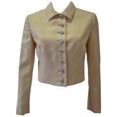 Gianni Versace Couture Cool Wool Creme Short Jacket