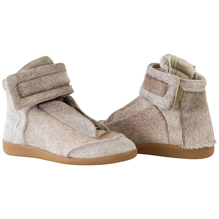 Maison Martin Margiela Pony High Top Sneaker Sanded Gray  43 / 10 For Sale