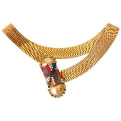1980s SONIA DEMARIA Goldtone Necklace