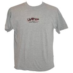 "Kansai Yamamoto ""Up To You"" Gray Cotton Embroidered Men's Tee"