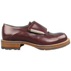 Men's PORTS 1961 Size 8 Burgundy Leather Thick Velcro Strap Lace Up