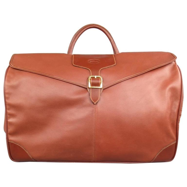 9eb6e1229d LONGCHAMP Tan Leather Large Carry-On Bag at 1stdibs