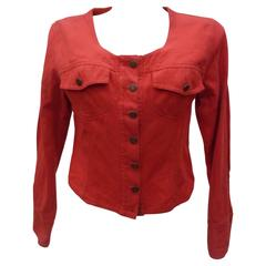 Moschino Jeans by Moschino Red Cotton Jacket