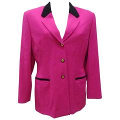 Escada by Margaretha Ley Fucsia Wool Jacket