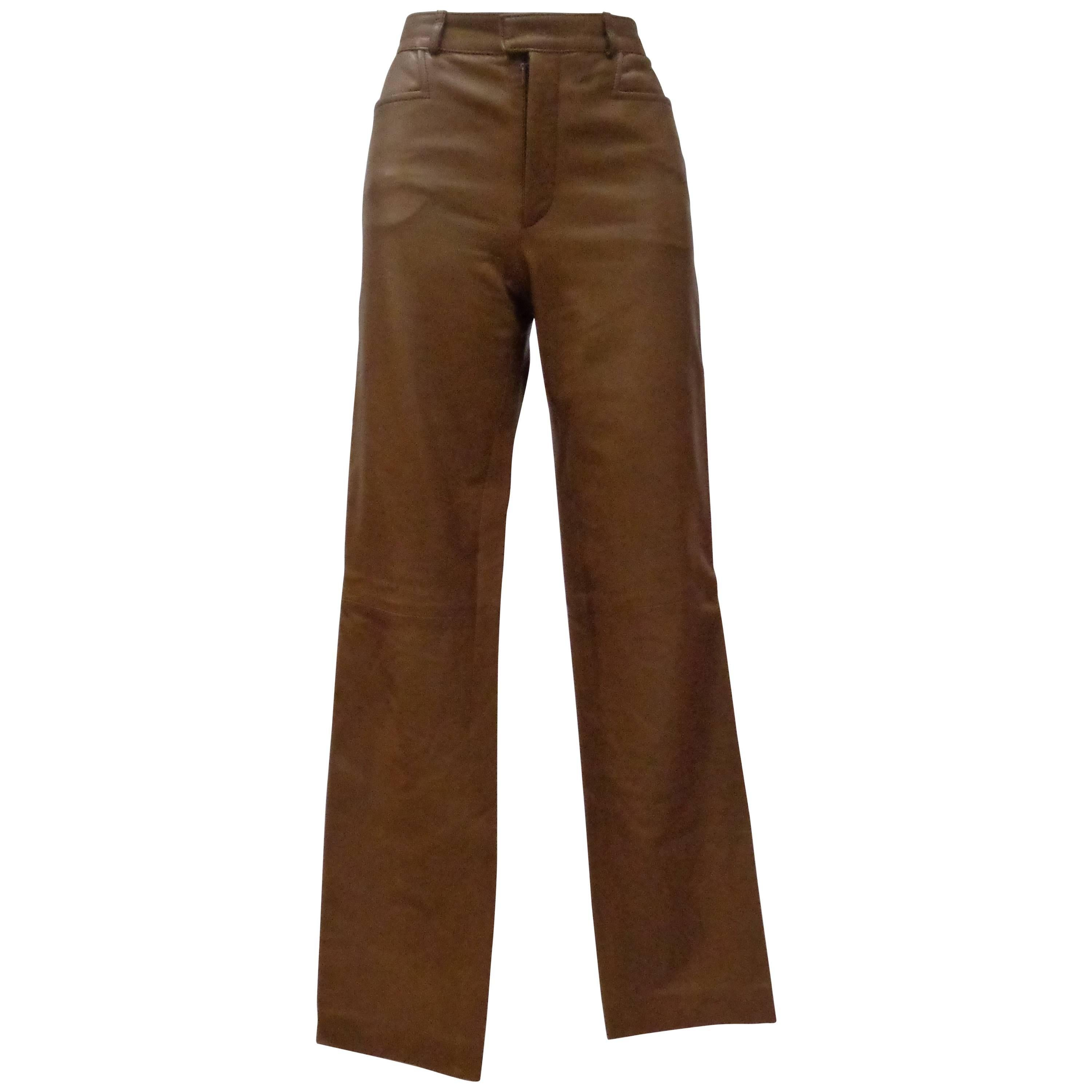 99bddb3b GUCCI by TOM FORD EMBROIDERED LEATHER MENS PANTS from the AD CAMPAGN For  Sale at 1stdibs