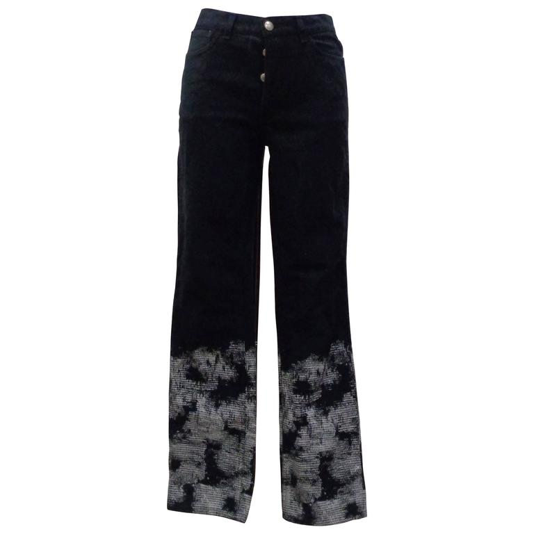 Valentino Cotton Blu Jeans  For Sale