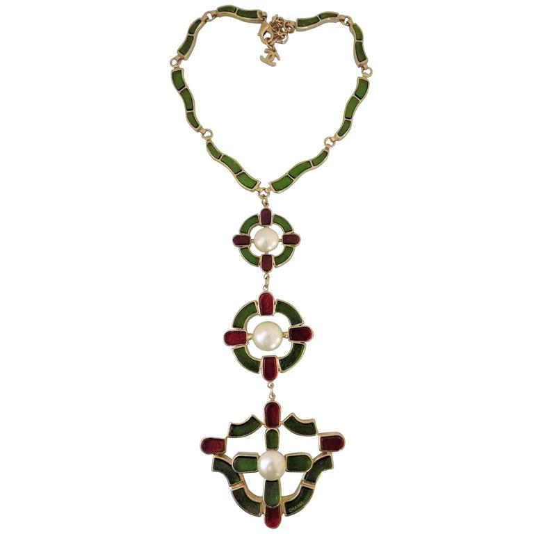 Important Chanel Massive runway necklace Monte carlo Pre Fall 2007 NIB For Sale