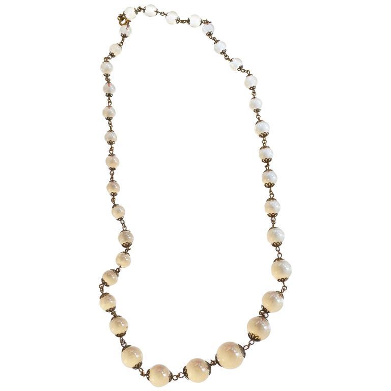 Edwardian Pools of Light Rock Crystal Necklace For Sale