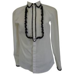 Dsquared2 White / Black Cotton Shirt