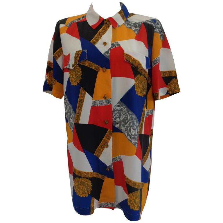 Vintage multicoloured silk shirt