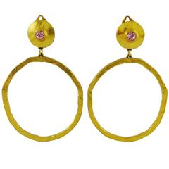 Edouard Rambaud Vintage Oversized Hoop Earrings
