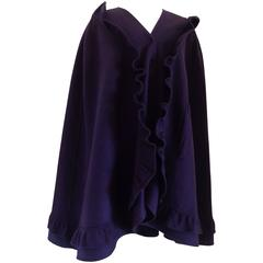 Mila Schon Purple Wool Cape