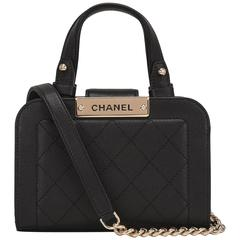 Chanel Black Small Label Click Shopping Bag NEW