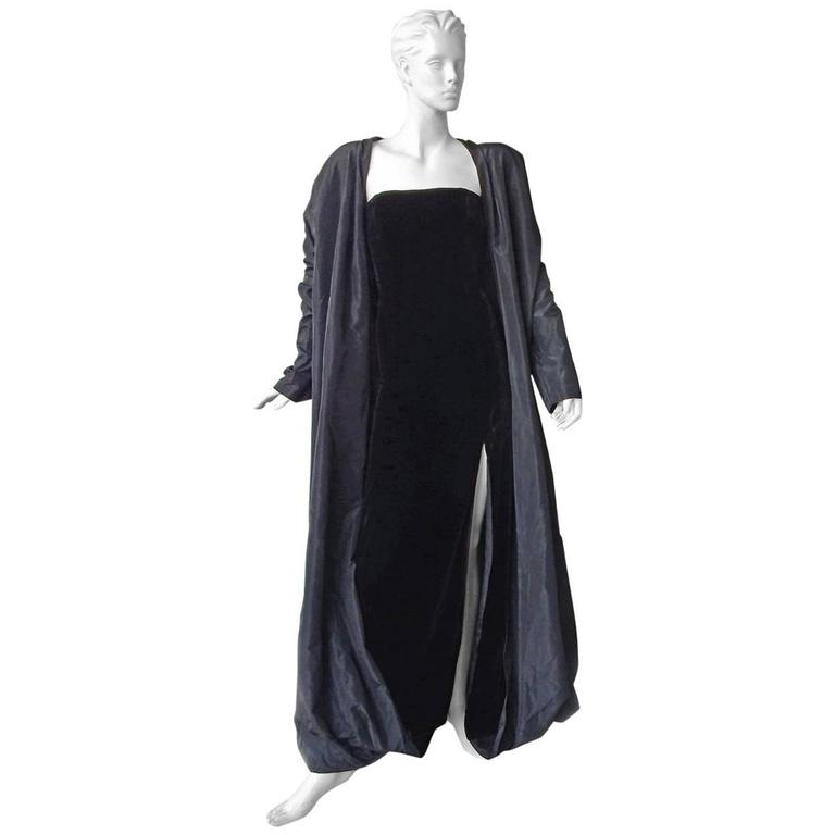 Rare Jean Paul Gaultier Dramatic Gown with Reversible Evening Coat 1