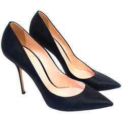 Casadei Black Satin Pumps