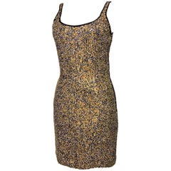 Jeanette Kastenberg Cocktail Dress with Matte Sequins Sz6 90s