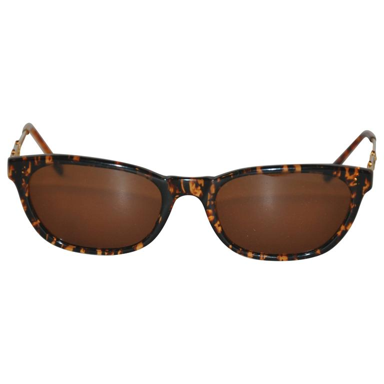 Moschino Tortoise Shell with Interior & Exterior Name-Plate Arms