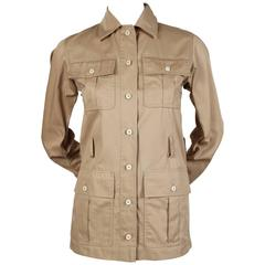 Yves Saint Laurent tan Safari jacket, 1970s