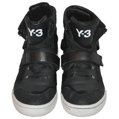 Yohji Yamamoto Black High-Top Lace-Up Sneakers