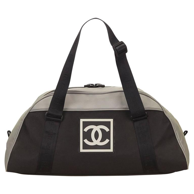 Chanel Gray Sports Line CC Duffel Bag
