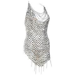 Paco Rabbane Attributed Chainlink Dress with Crystals