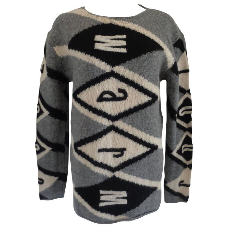 Moschino Iconic Warm Grey-White-Black Pull