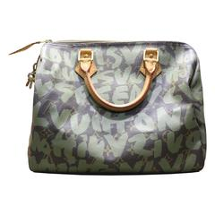Louis Vuitton Khaki Graffiti Monogram Canvas 30cm Speedy by Stephen Sprouse