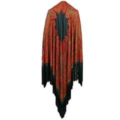 Yves Saint Laurent YSL Gorgeous Vintage Fringed Shawl