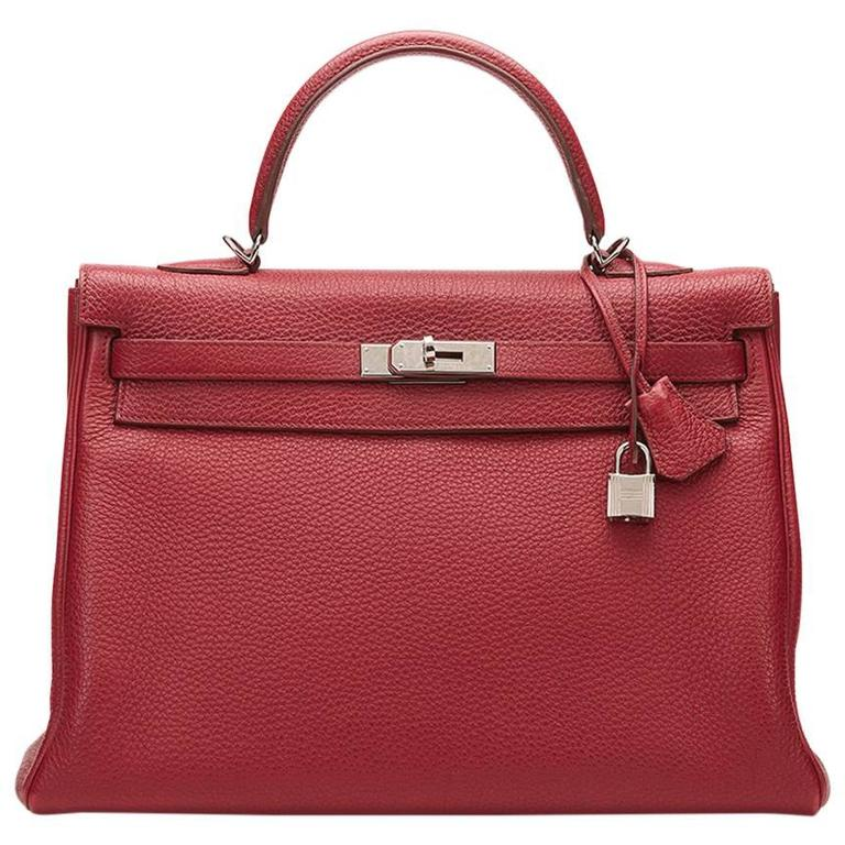 2010 Hermes Rubis Clemence Leather Kelly 35cm 1