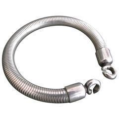 Vintage Danish Silver Snakesking Bracelet by Henning Oddershede
