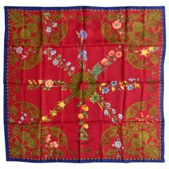 Hermes Arabesques Silk Twill Carre by Henri d'Origny