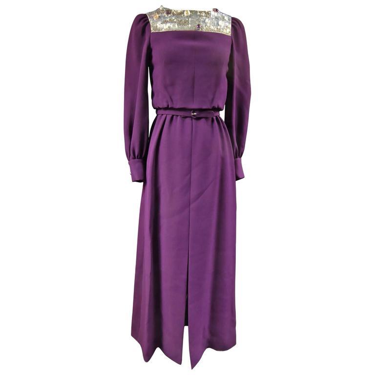 Nina Ricci Couture Kleid Kollektion Jeune Femme, 1970er Jahre 1