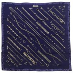 2008 Hermes Chaines and Gourmettes 70cm Silk Scarf