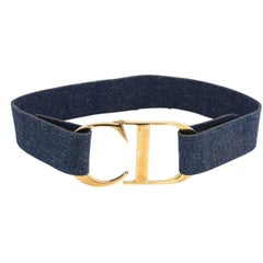 John Galliano for Christian Dior Iconic CD Denim Choker