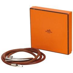 Brown Hermès Leather Belt