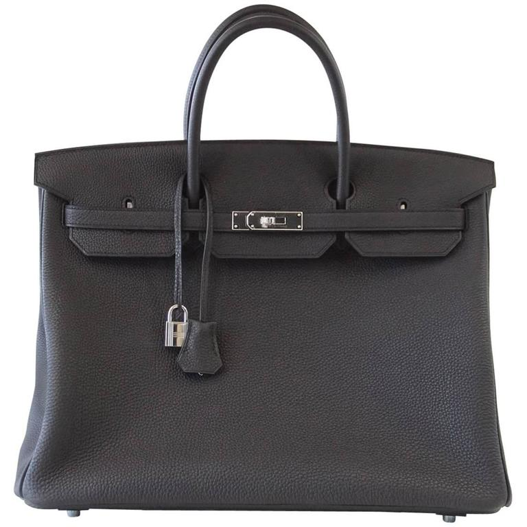 e9d8b85ef22 Hermes Birkin 40 Bag Rich Matte Black Togo Palladium Hardware For Sale