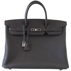 Hermes Birkin 40 Bag Rich Matte Black Togo Palladium Hardware