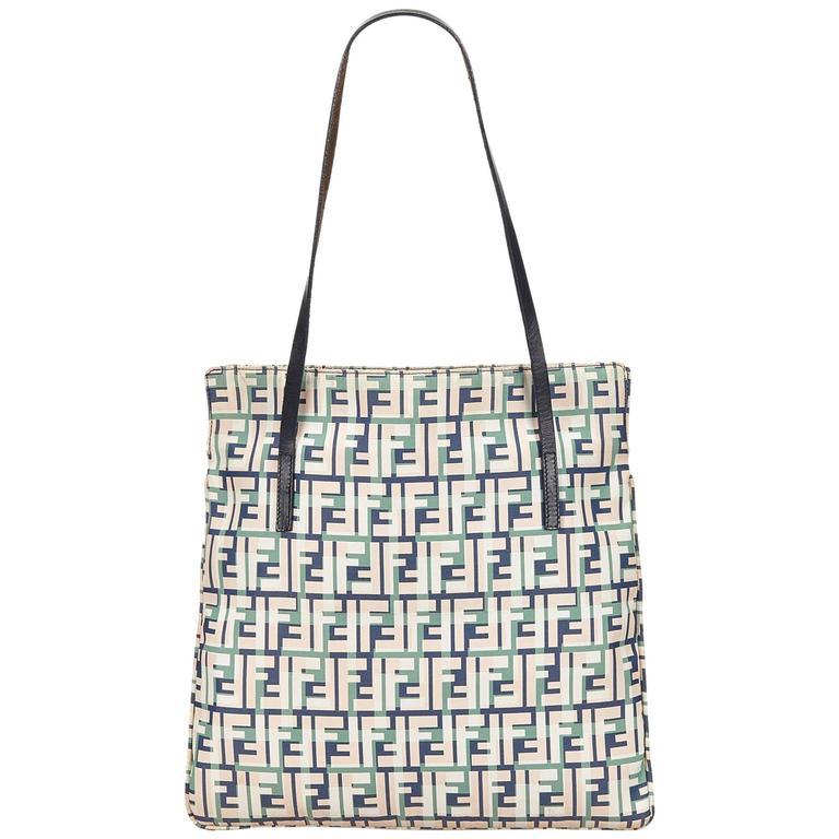 72e63829e81d Multicolor Fendi Zucca Canvas Tote Bag For Sale at 1stdibs